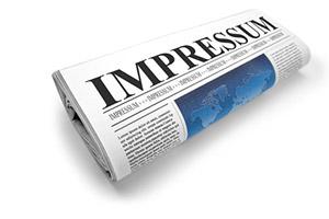 """Impressum – Quotidiano ripiegato con titolo """"Impressum"""""""