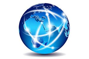 Mappa sito – Immagine grafica del globo terrestre con punti di collegamento fra varie zone