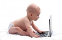 ImprendiNews – Copertina di Luglio 2014, neonato al computer