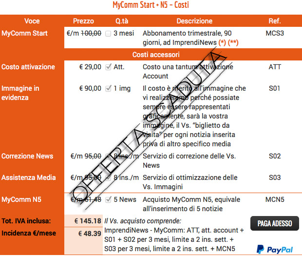 ImprendiNews – MyComm Start + N5 – Offerta scaduta!