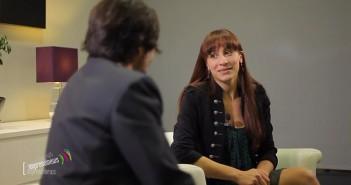 ImprendiNews – Video promozionale, una scena con gli attori Ivan Ricci e Alessia Zambotto