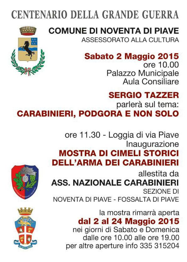 ImprendiNews – Arma dei Carabinieri, programma della manifestazione